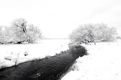 Winter Photograph - Winter Stream by Mike Dawson