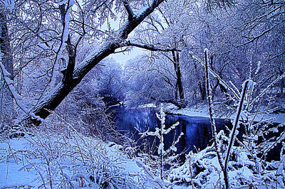 Environement Photograph - Winter Stream by Phil Koch