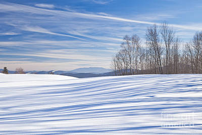 Photograph - Winter Stripes by Alan L Graham