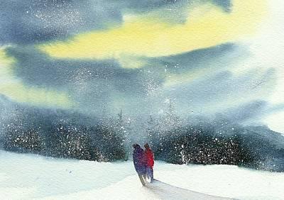 Wall Art - Painting - Winter Stroll II by Debra LePage