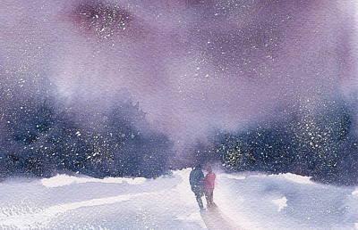 Wall Art - Painting - Winter Stroll Iv by Debra LePage