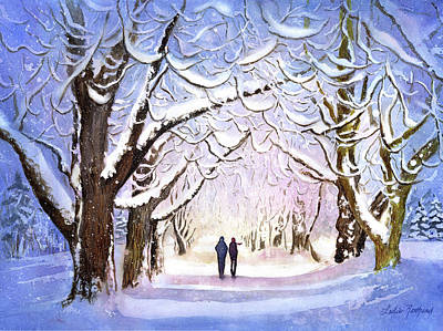 Painting - Winter Stroll by Leslie Redhead