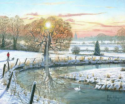 Painting - Winter Stroll by Richard Harpum