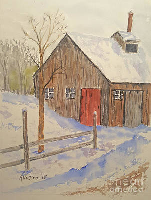 Painting - Winter Sugar House by Stanton Allaben