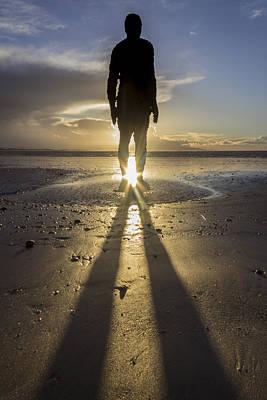 Antony Gormley Photograph - Winter Sun At Crosby Beach by Paul Madden
