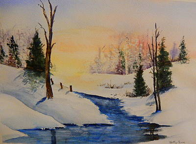 Snow Covered Ground Painting - Winter Sun by Betty-Anne McDonald