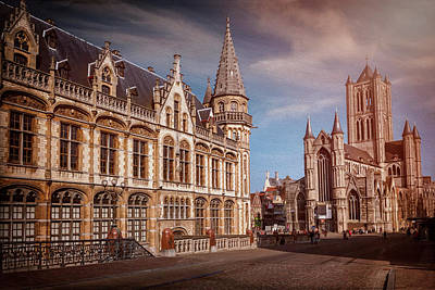 Photograph - Winter Sun In Ghent Belgium  by Carol Japp