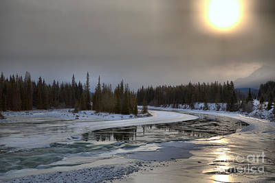 Photograph - Winter Sun Over The Athabasca River by Adam Jewell