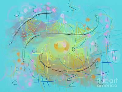 Digital Art - Winter Sunday by Chani Demuijlder