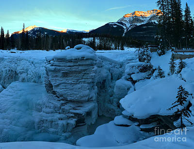 Photograph - Winter Sunkiss Over Athabasca Falls by Adam Jewell