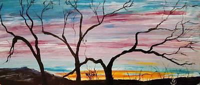 Painting - Winter Sunrise                    74 by Cheryl Nancy Ann Gordon