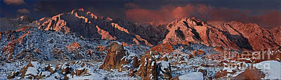 Photograph - Winter Sunrise Alabama Hills Eastern Sierras Californi by Dave Welling