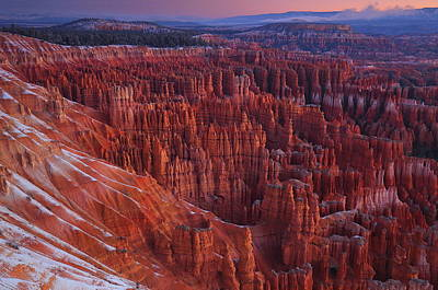 Photograph - Winter Sunrise At Bryce Canyon National Park by Jetson Nguyen