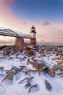Photograph - Winter Sunrise At Marshall Point by Jesse MacDonald