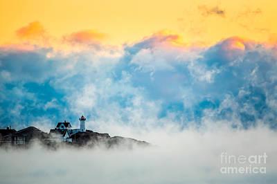 Photograph - Winter Sunrise At Nubble Light by Susan Cole Kelly