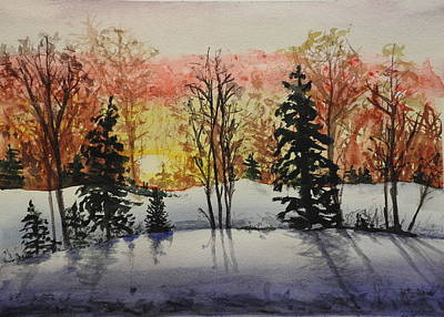Painting - Winter Sunrise by Betty-Anne McDonald