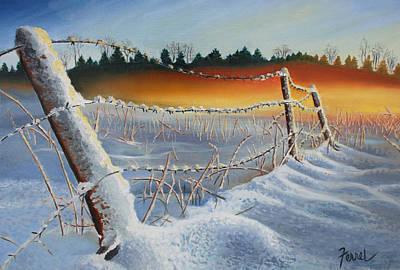 Painting - Winter Sunrise by Ferrel Cordle