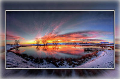 Photograph - Winter Sunrise by Fiskr Larsen