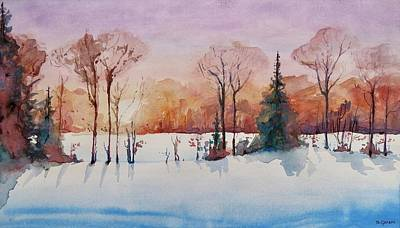 Painting - Winter Sunrise by Geni Gorani