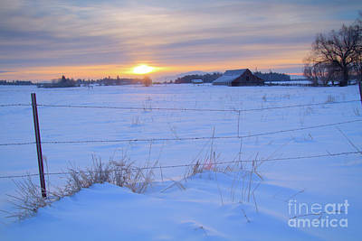 Photograph - Winter Sunrise by Idaho Scenic Images Linda Lantzy