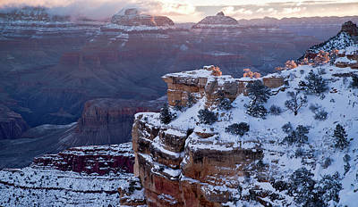Photograph - Winter Sunrise - Mather Point Grand Canyon by Paul Riedinger