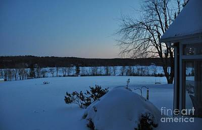 Art Print featuring the photograph Winter Sunrise On Demond Pond by John Black