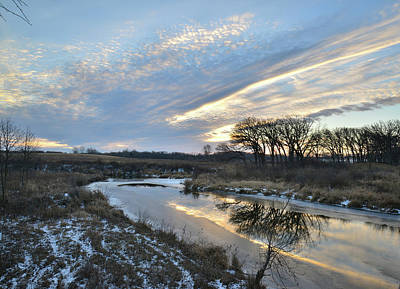 Photograph - Winter Sunrise On Nippersink Creek by Ray Mathis