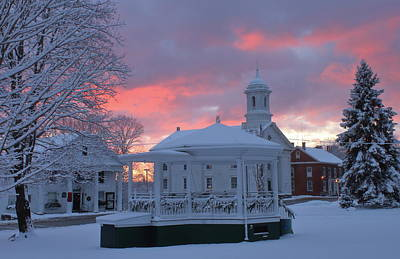Photograph - Winter Sunrise On The Common by John Burk