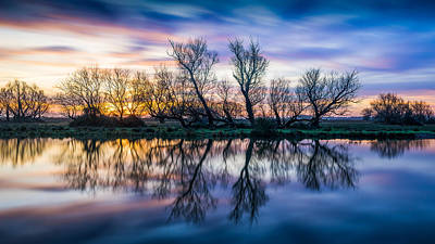 Winter Sunrise Over The Ouse Art Print