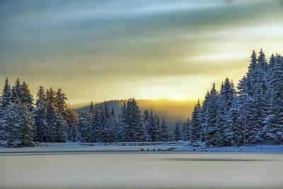 Photograph - Winter Sunrise by Plamen Petkov