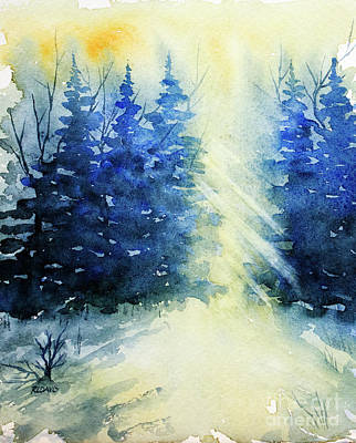 Painting - Winter Sunrise by Rebecca Davis