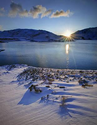 Winter Sunrise Art Print by Richard Outram