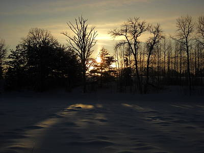 Photograph - Winter Sunrise Shadows by Kent Lorentzen