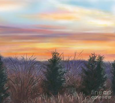 Painting - Winter Sunrise by Susan Sarabasha