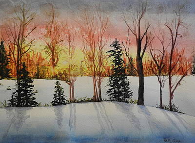Photograph - Winter Sunrise Two by Betty-Anne McDonald