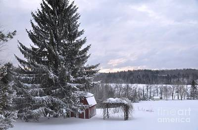 Art Print featuring the photograph Winter Sunset - 1 by John Black