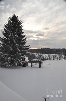 Art Print featuring the photograph Winter Sunset - 2 by John Black