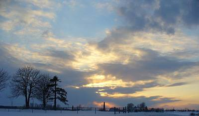Photograph - Winter Sunset - Lambton County by Peggy King