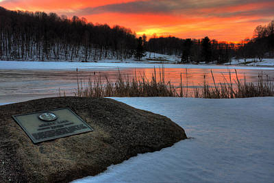 Photograph - Winter Sunset Abbott Lake by Steve Hurt