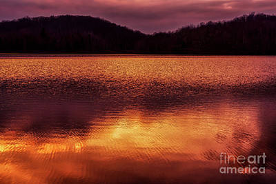 Photograph - Winter Sunset Afterglow Reflection by Thomas R Fletcher