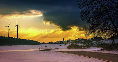 Photograph - Winter Sunset  by Andrew Matwijec