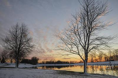 Photograph - Winter Sunset At East Lake by Tamara Becker