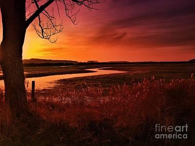 Winter Memories Photograph - Winter Sunset At Holkham by John Edwards