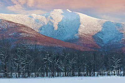 Photograph - Winter Sunset At Mount Mansfield by Alan L Graham
