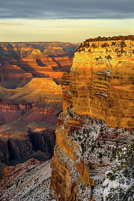 Photograph - Winter Sunset At The Grand Canyon by Susan Warren
