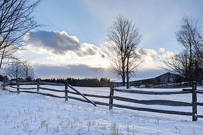 Photograph - Winter Sunset by Dan Poirier