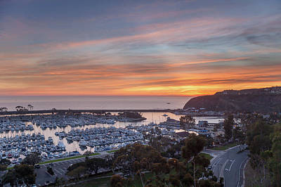 Photograph - Winter Sunset Dana Point Harbor by Cliff Wassmann