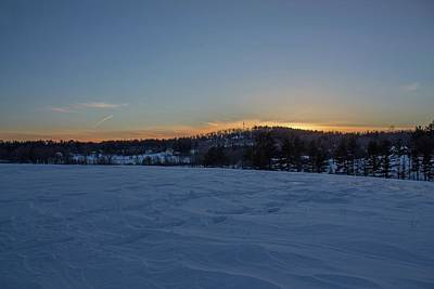 Photograph - Winter Sunset From Dexter Drumlin by Michael Saunders