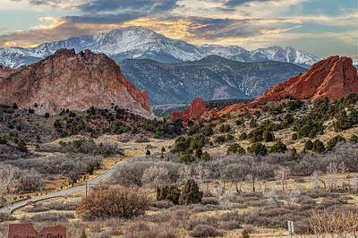 Photograph - Winter Sunset - Garden Of The Gods - Colorado Springs by Gregory Ballos