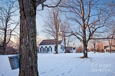 Winter Sunset In New Salem Art Print